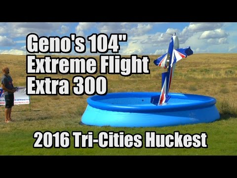 "104"" Extreme Flight Extra 300 at Tri-Cities Huckfest 2016"