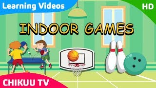 Learn About Indoor & Outdoor Games || Kids Learning Indoor games | Kids Learning Videos