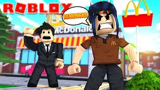 🍔 My Boss TREATS ME ME ME ME ME ME AND I ESCAPO FROM WORK 🍟// roblox in Spanish // SULIIN18YT