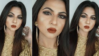 Soft Gold Glam Look | Easy Wedding Party Makeup Tutorial | Bangladesh || Ananya Artistry