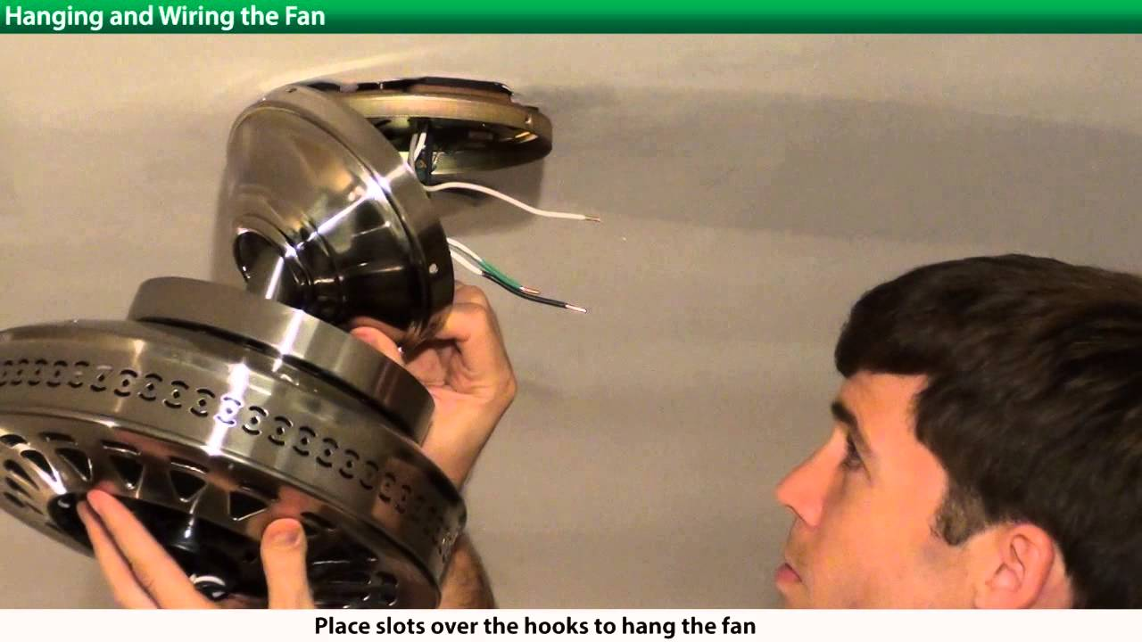 How To Install A Hunter Ceiling Fan 2xxxx Series Models Youtube Remote Wiring Diagram Electrical