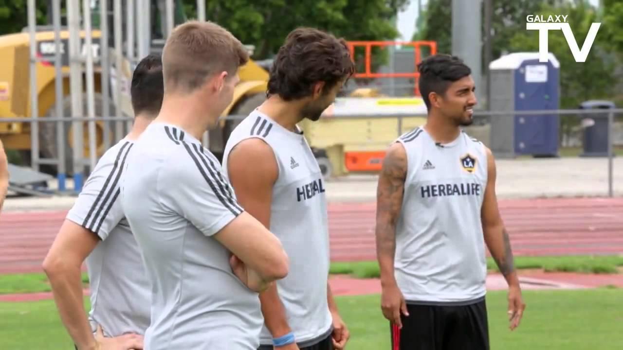 Gerrard, Keane,  Husidic and DeLaGarza Doe a number of challanges (LA GALAXY)