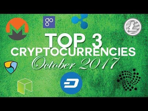 Top 3 cryptocurrencies: October 2017