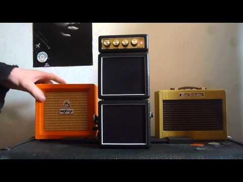 Mini Amp Shoot Out - Fender Vs Orange Vs Marshall