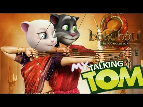 Bahubali 2 ore oru raja song talking tom&angelo version