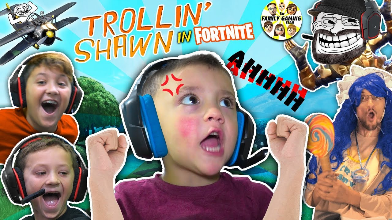 3 year old shawn master of fortnite fgteev trollin haha big baby - fgteev playing fortnite