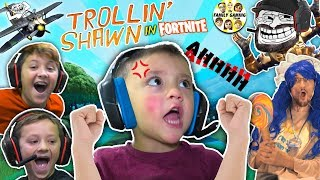 3 YEAR OLD SHAWN, MASTER of FORTNITE! (FGTEEV Trollin' - haha Big Baby)