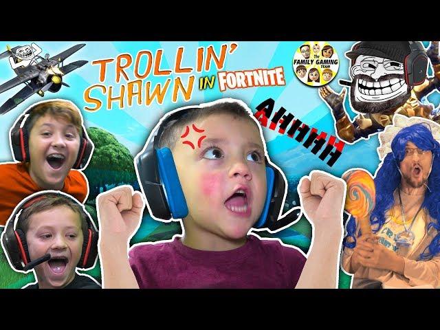 3 YEAR OLD SHAWN, MASTER of FORTNITE! (FGTEEV Trollin - haha Big Baby)