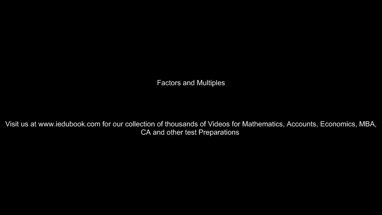 worksheet Factors Multiples Worksheet factors and multiples factoring maths class 6vi iscecbse ncert youtube