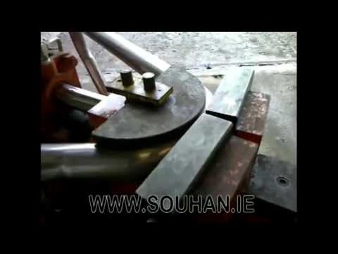 Stainless Steel Exhaust Pipe Being Bent Souhan Ie Mp4