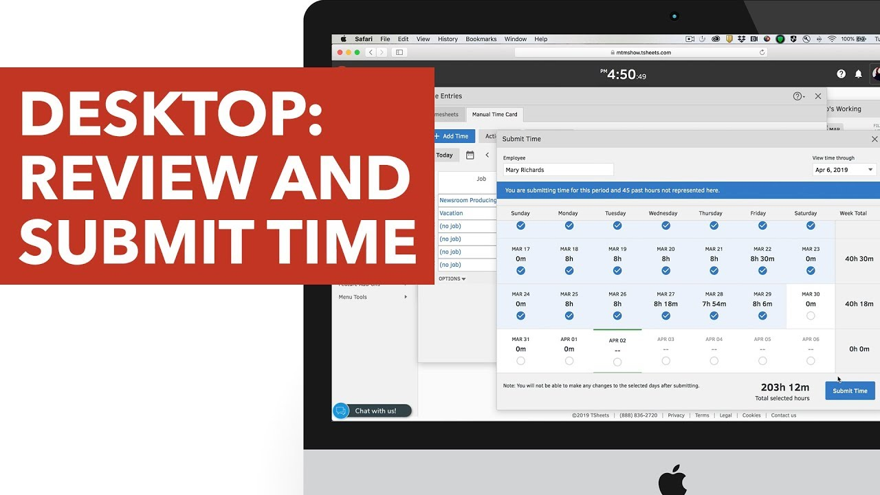 TSheets Desktop: Review and Submit Time