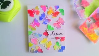 DIY - Easy Card Making for Beginners and Kids - Water Color Butterflies