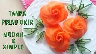 Cara membuat BUNGA MAWAR DARI WORTEL | how to make carrot rose…