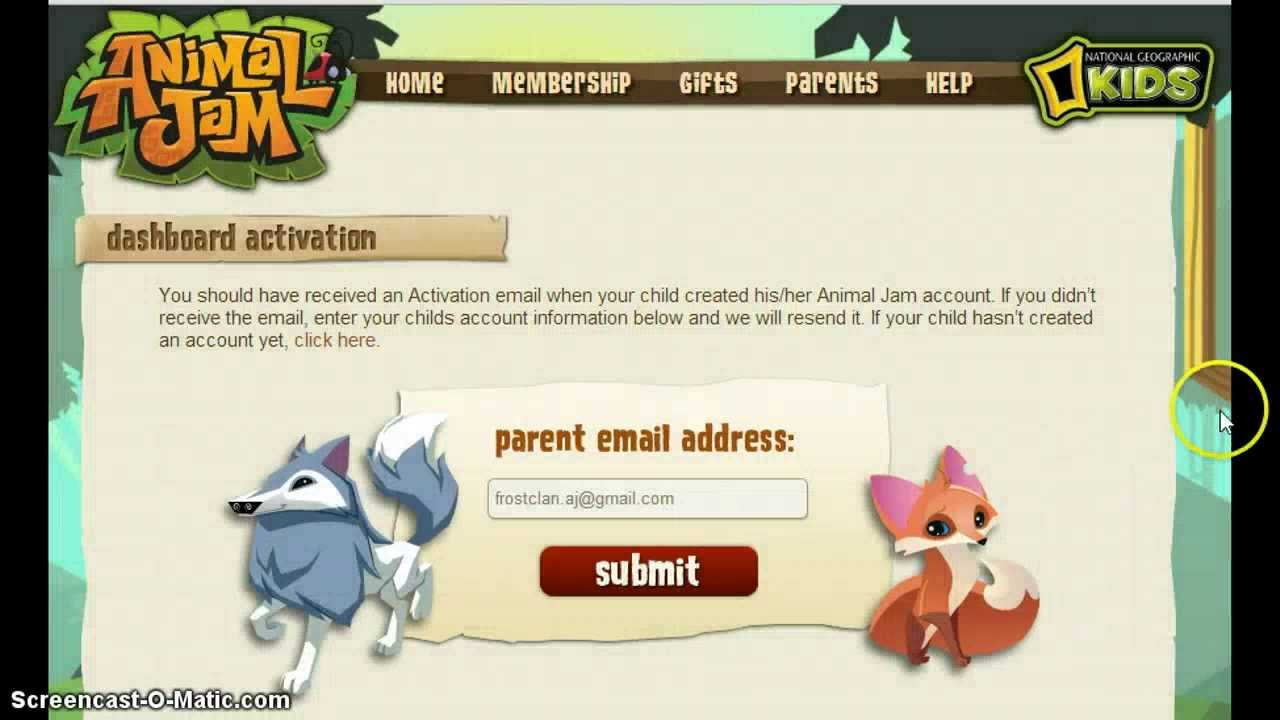 animal jam  how to activate parent dashboard get free