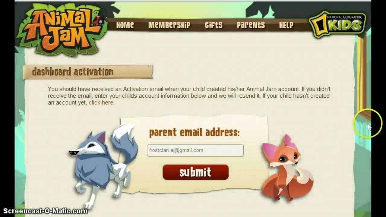 parent dashboard animal jam