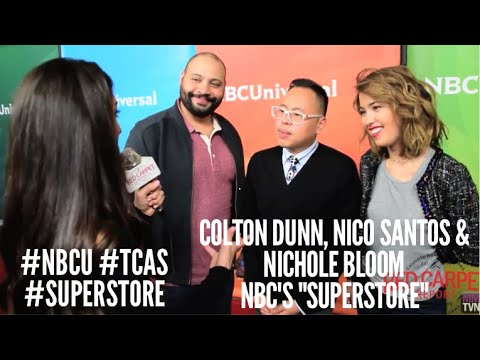 Colton Dunn, Nico Santos & Nichole Bloom Superstore at NBCUniversal's Winter 2016 Press TCA Tour
