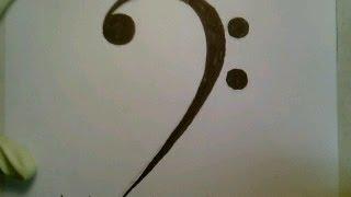 How To Draw A Music Note Symbol Sign Easy Tattoo Como dibujar una nota de la musical step by step