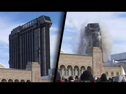 Trump Plaza Hotel Imploded With 3000 Sticks of Dynamite