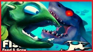 ✔ Я Большая РЫБА - МОНСТР видео для детей МУЛЬТИК ИГРА Feed and Grow Fish от Мульти Пульти ✔