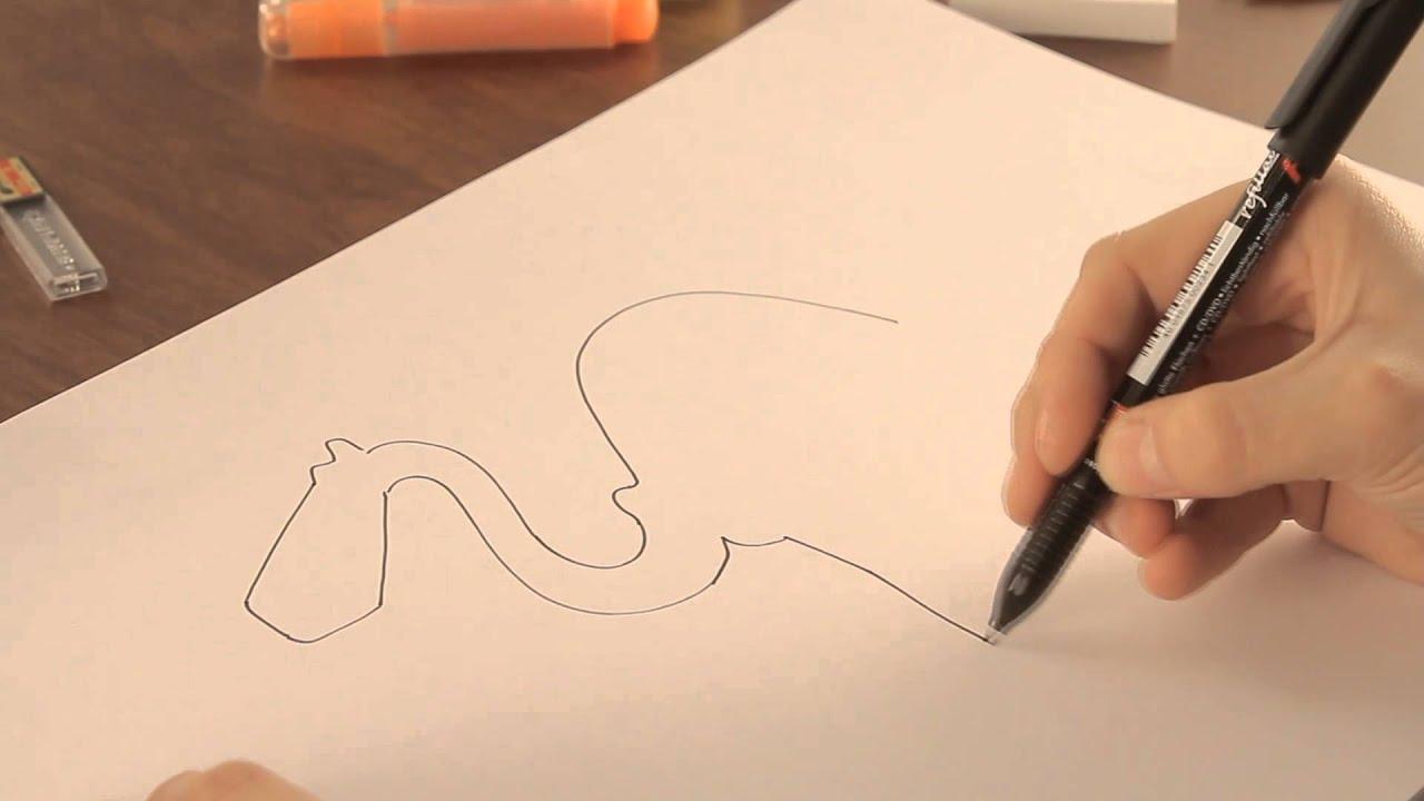 Cómo dibujar camellos : Dibujos de la Naturaleza - YouTube