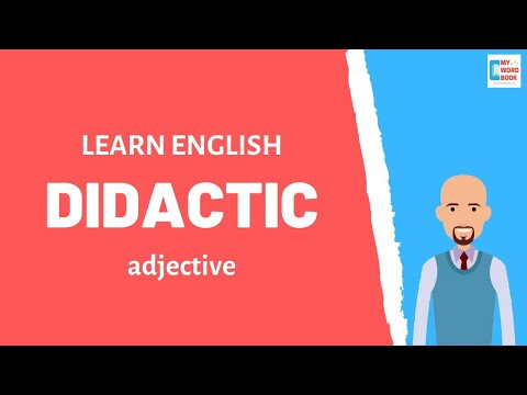 Didactic | Meaning With Examples | My Word Book