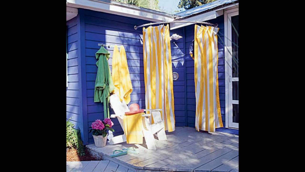 outdoor shower ideas - YouTube
