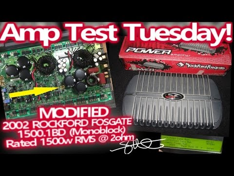 Amp Test Tuesday - Modified '02 Rockford Fosgate 1500 1bd - 1500 Watts RMS  2 Ohms