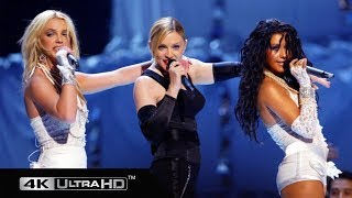 Madonna, Britney Spears, Christina Aguilera & Missy Eliot  - Like A Virgin/Hollywood (VMA 2003) 4K