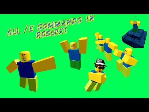 All /e Commands In Roblox! (R6)