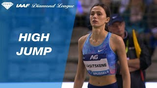 Maria Lasitskene 2.02 Wins the Women's High Jump - IAAF Diamond League Brussels 2017
