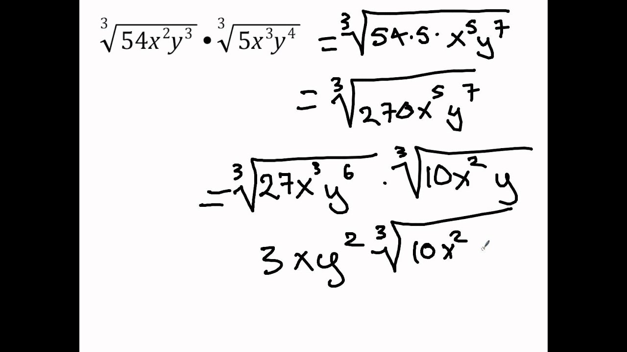 Multiplying And Dividing Radical Expressions 7 2