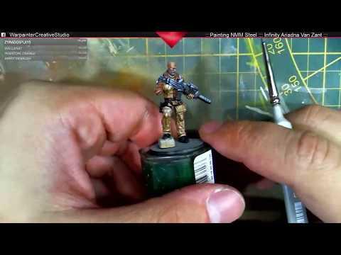 Livestream  WarPainter: How to paint nmm steel - Tutorial