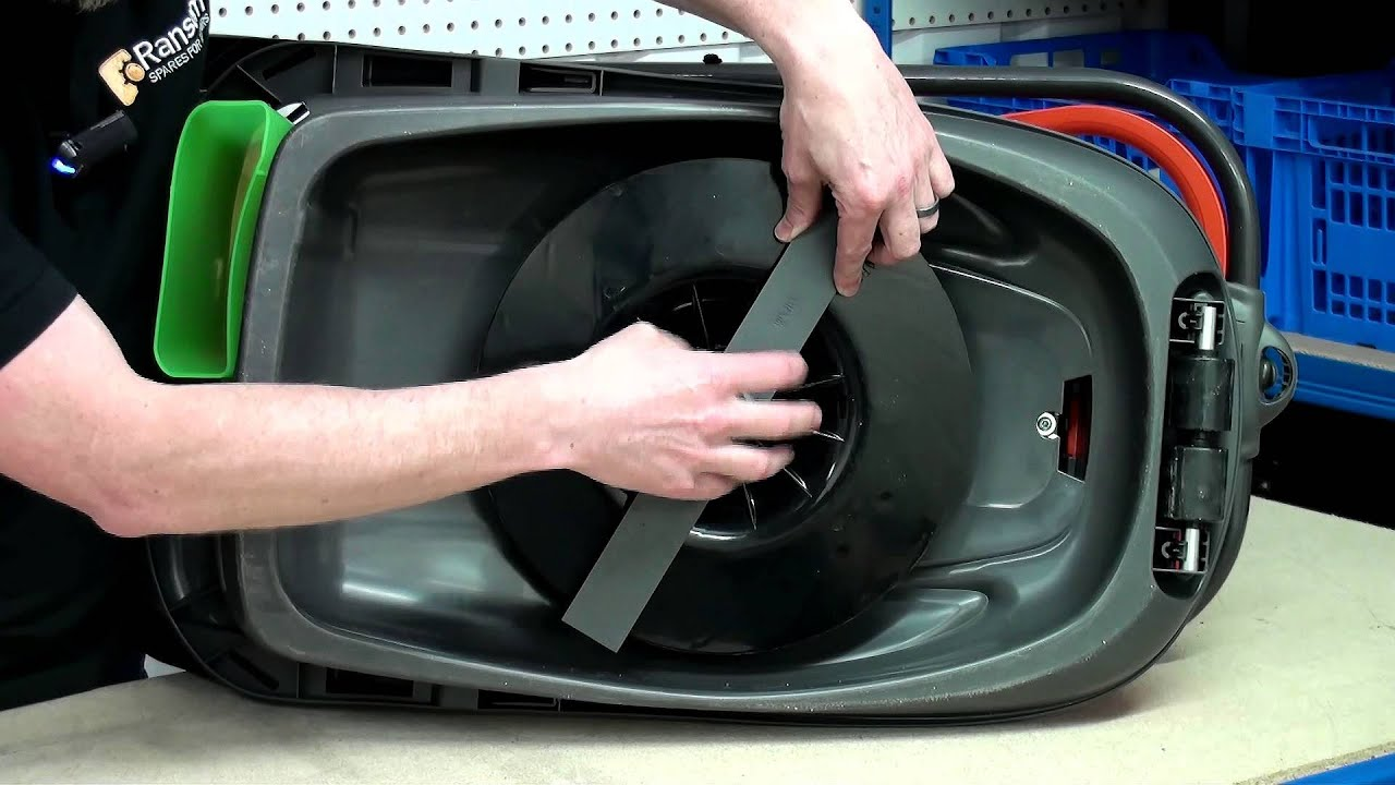 How To Replace A Flymo Lawn Mower Blade Youtube