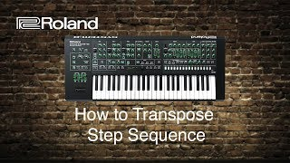 Roland System-8 - How to Transpose Step Sequence