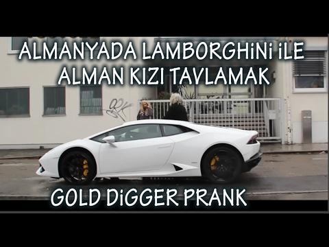 Almanyada Lamborghini ile Alman kızı tavlama  (Gold digger Turkish in Germany)