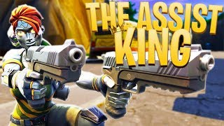 THE ASSIST KING! - PS4 Pro Fortnite Duos w/ Ali!