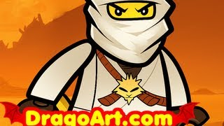 How to Draw Zane, Zane Ninjago, Ninjago, Step by Step