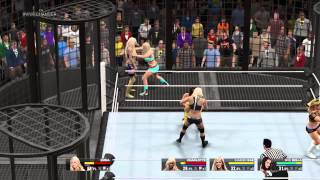 WWE 2K15 6 Divas elimination chamber Women
