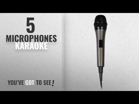 Top 10 Microphones Karaoke [2018]: Singing Machine SMM-205 Unidirectional Dynamic Microphone with 10