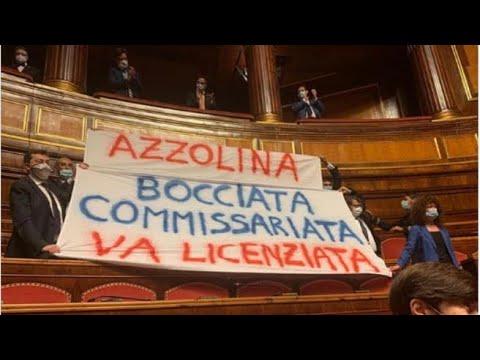 Corriere della Sera: Protesta della Lega al Senato contro Azzolina: «Si dimetta», ed è bagarre in Aula