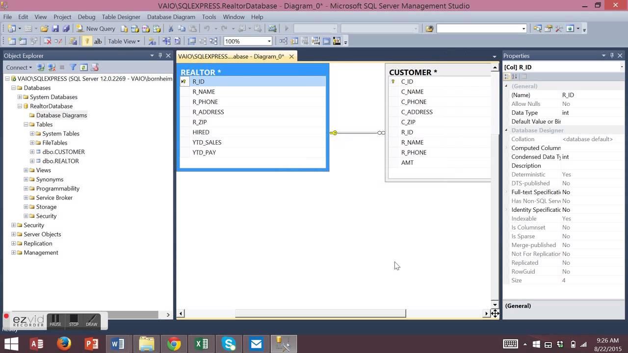 Database Diagram In Sql Server