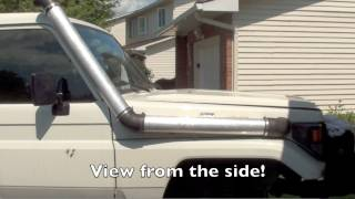 Land Cruiser Custom snorkel installation