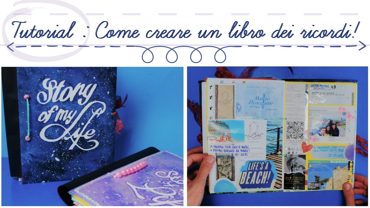 Favoloso TUTORIAL : Come creare un libro dei ricordi! ( Handmade Journal  CJ57