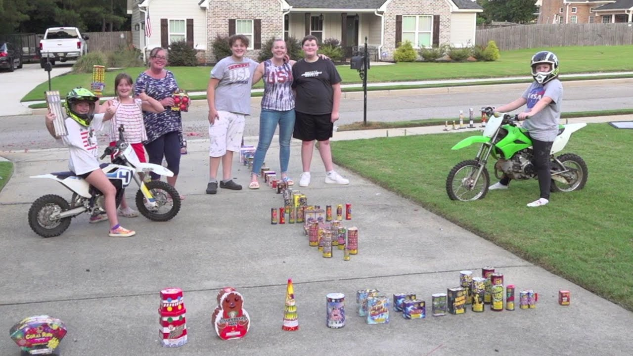 Our 4th of July family video, Fireworks, Dirtbikes, family, fun!!