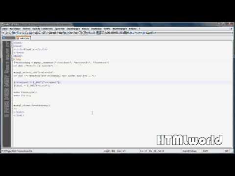 PHP Tutorial: Daten Abspeichern In Eine MySQL Tabelle   Deutsch