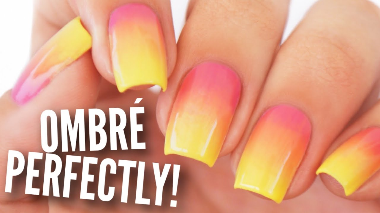 Ombre gradient your nails perfectly youtube prinsesfo Images
