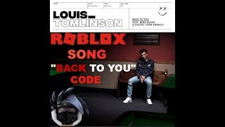 Roblox - Back To You Song Code ID