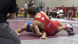 2016 McMaster Invitational FS57kg FINAL Marco Palermo (Lakehead) vs Sam Jagas (Brock)