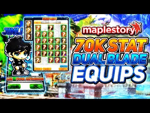 MapleStory: 70k Luk Dual Blade Equipment Video!