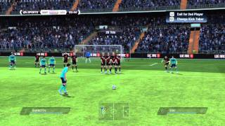 "FIFA 11 Tutorial - ""The Curved Free Kick"" - Free Kick Tutorial 3"